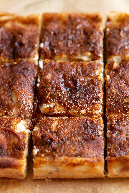 Sliced Vegan Apple Custard Squares