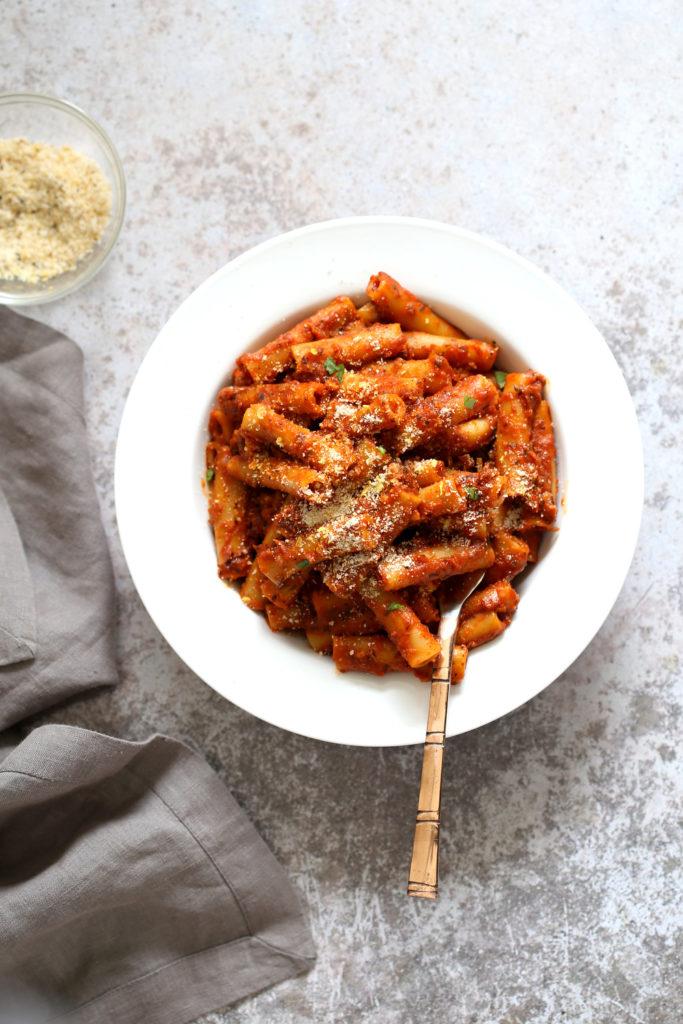 Instant Pot Ziti with Tomato Sauce 20 Mins!