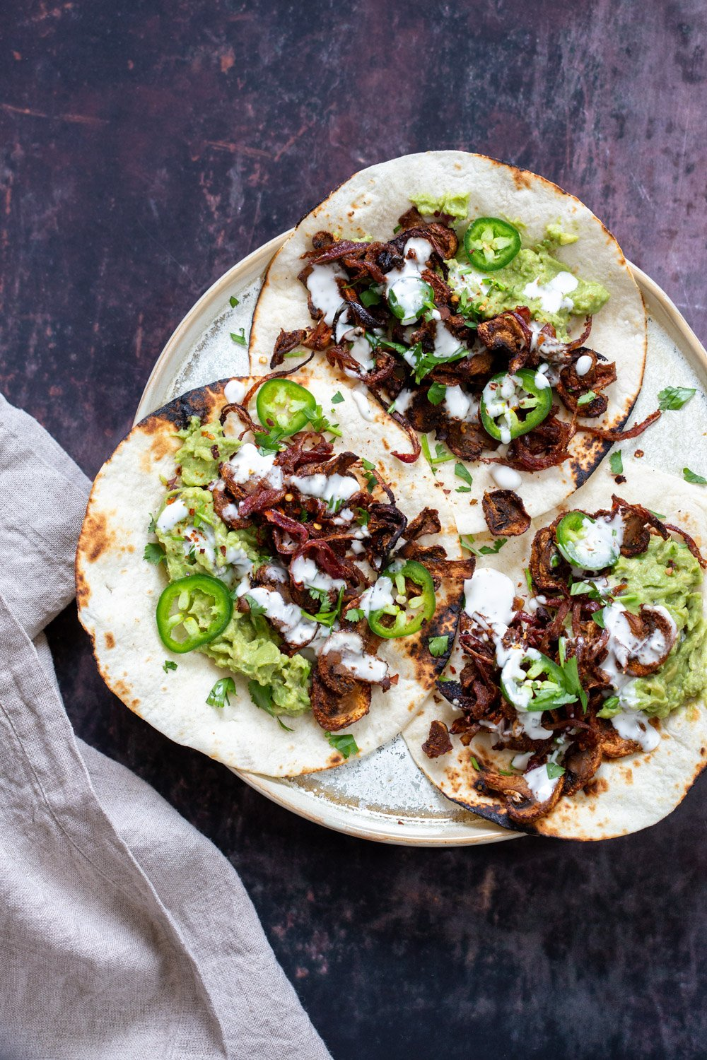 Vegan Carnitas with Mushrooms