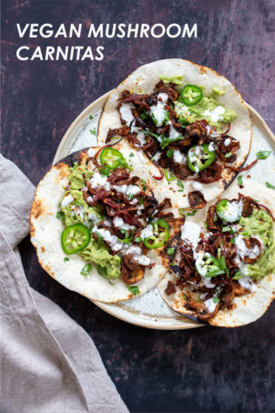 Vegan Carnitas with Mushrooms