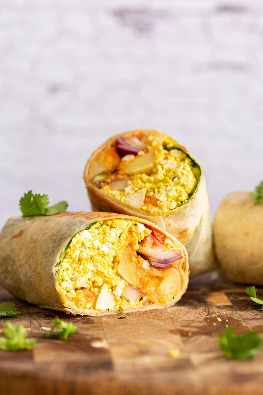 Vegan Breakfast Burrito Recipe With Tofu Scramble Spiced Potatoes Vegan Richa