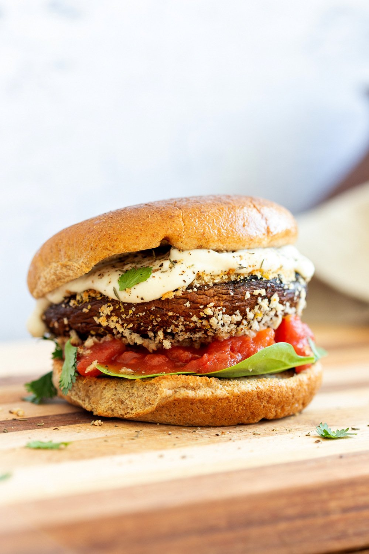 Vegan Portobello Mushroom Burger Vegan Richa
