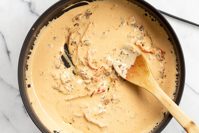 Our Creamy Cajun Pasta Sauce in a skillet