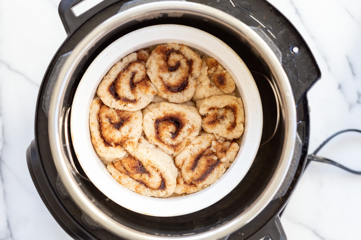 Steamed Vegan Gluten free Cinnamon Rolls in Instant Pot preessure cooker