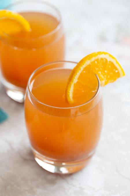 Instant Pot Apple Cider in glasses