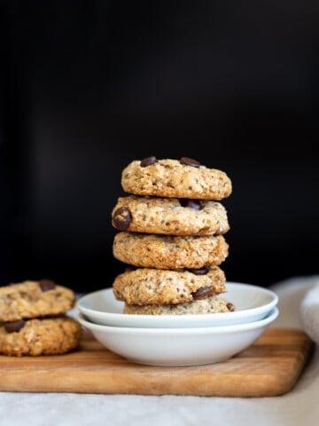 Vegan Breakfast Cookies in small white plate