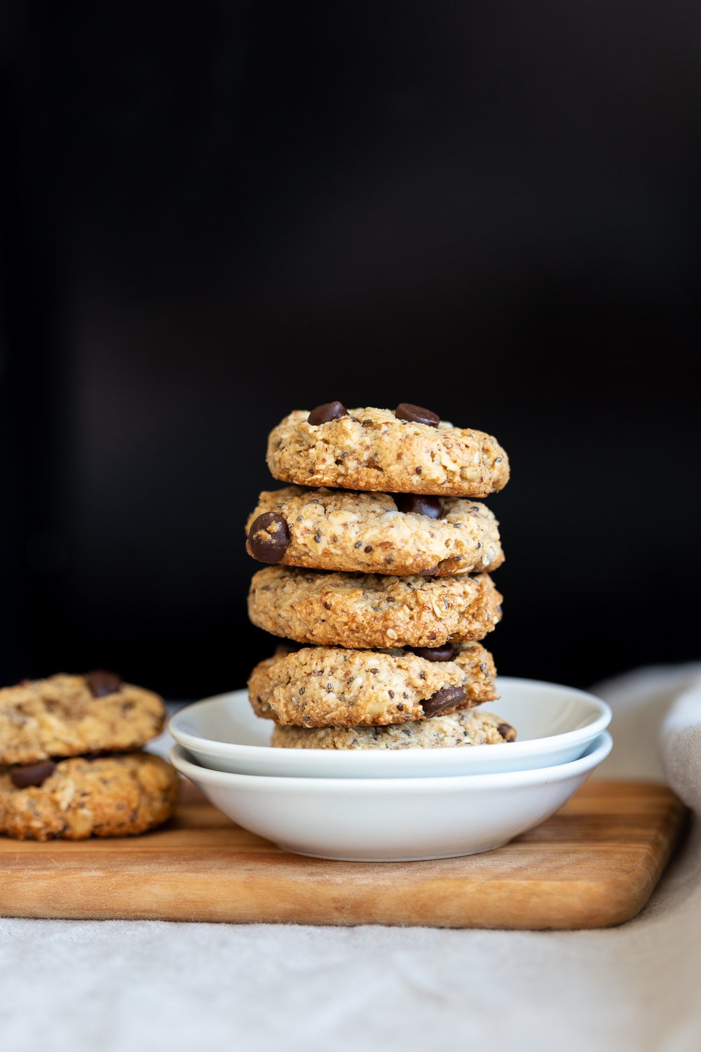 Vegan Breakfast Cookies in small white plate