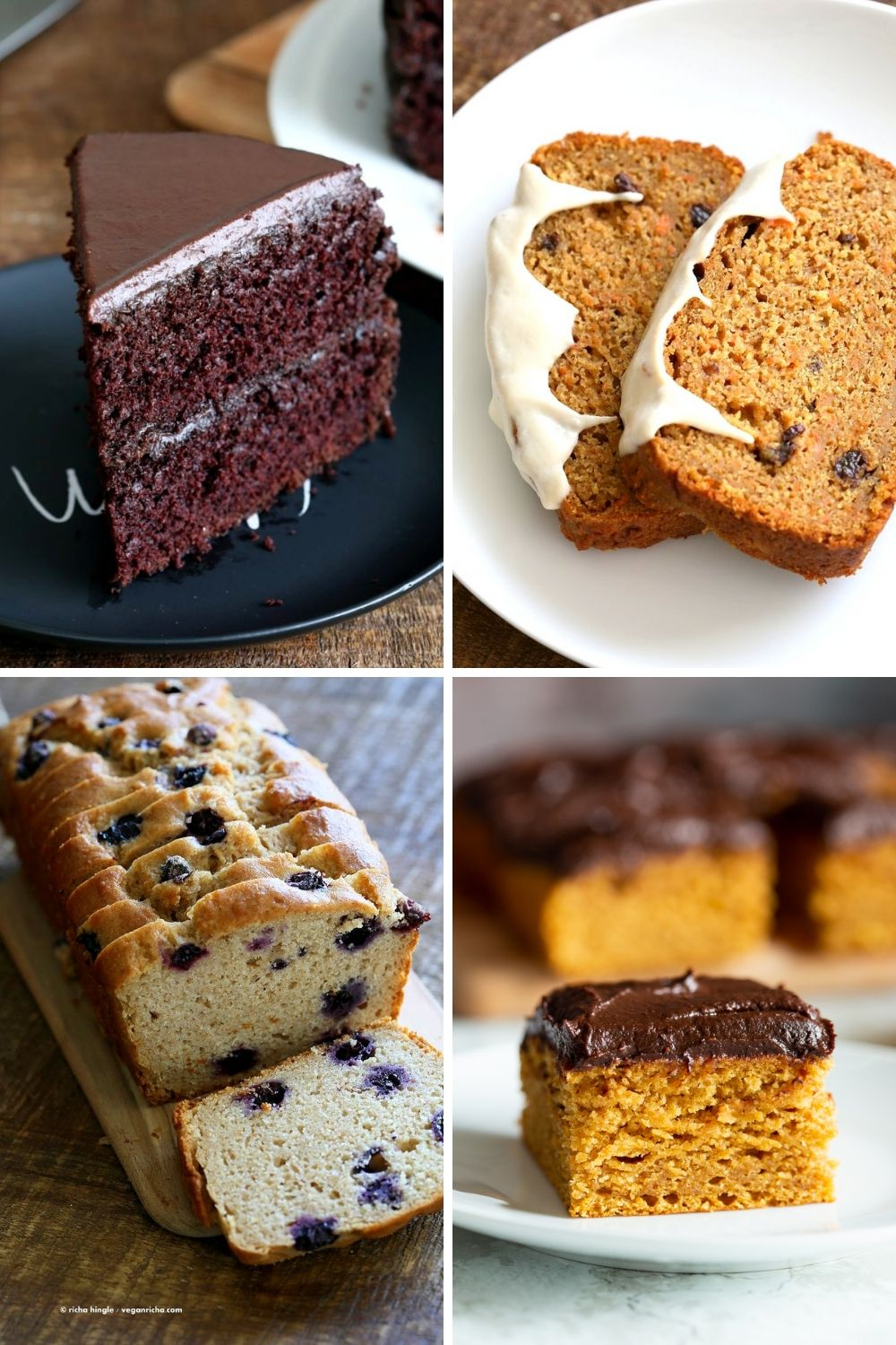 collage of eggless cakes