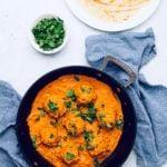 vegan malai kofta in a black skillet