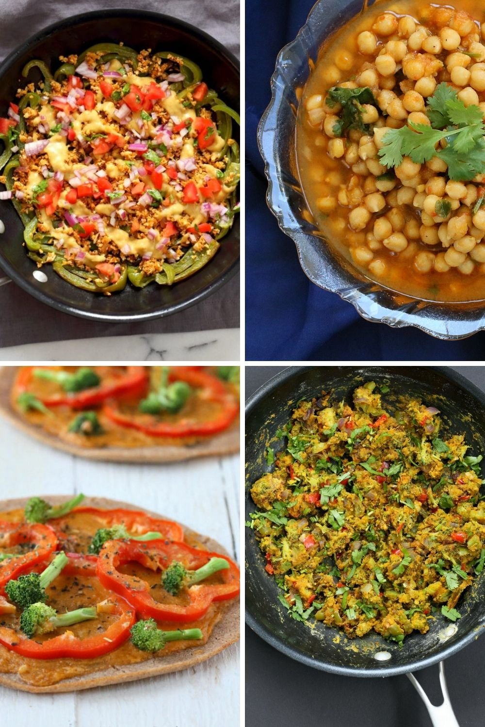 picture collage of bell pepper recipe ideas