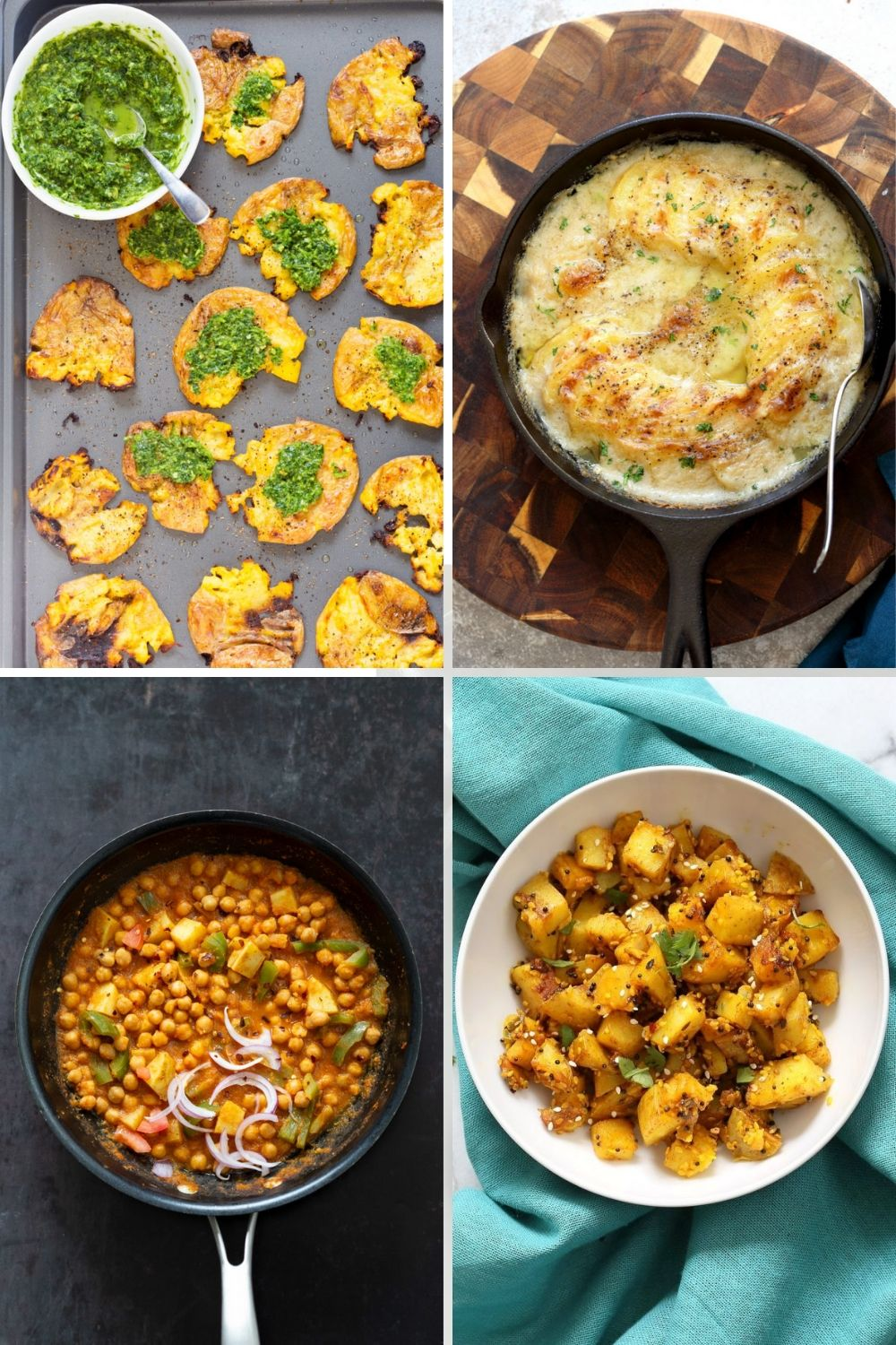 collage of potato recipe ideas