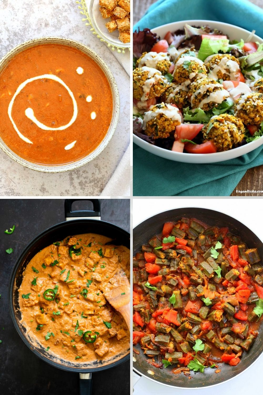 collage of tomato recipe ideas