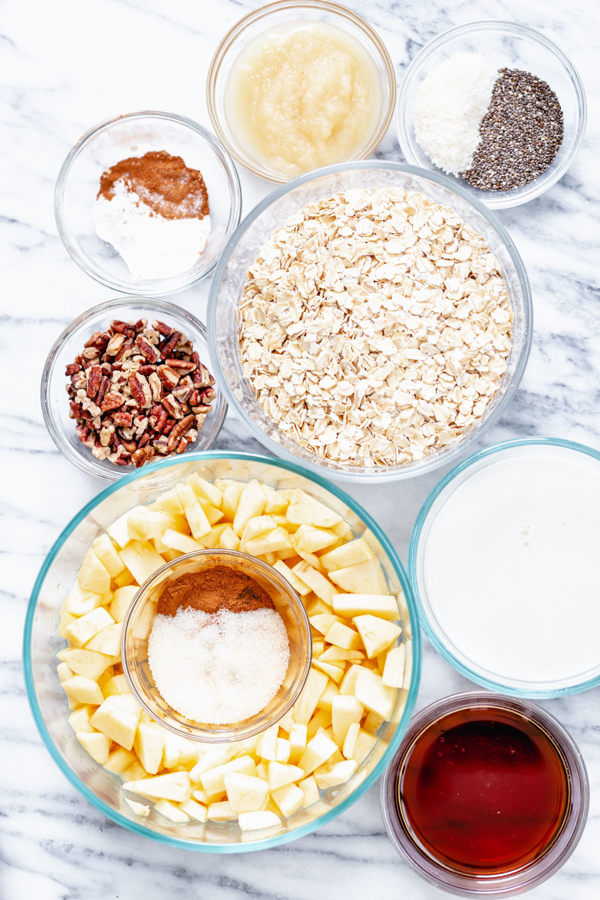 ingredients needed for making apple pie baked oatmeal
