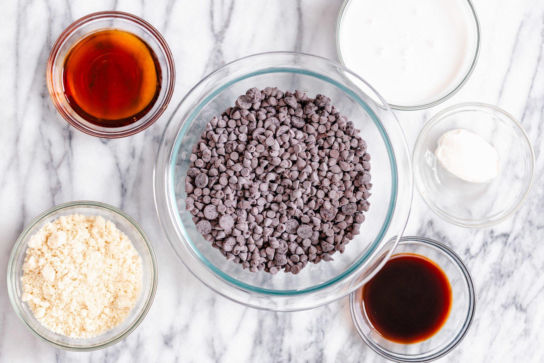 ingredients used for making vegan tiramisu truffles