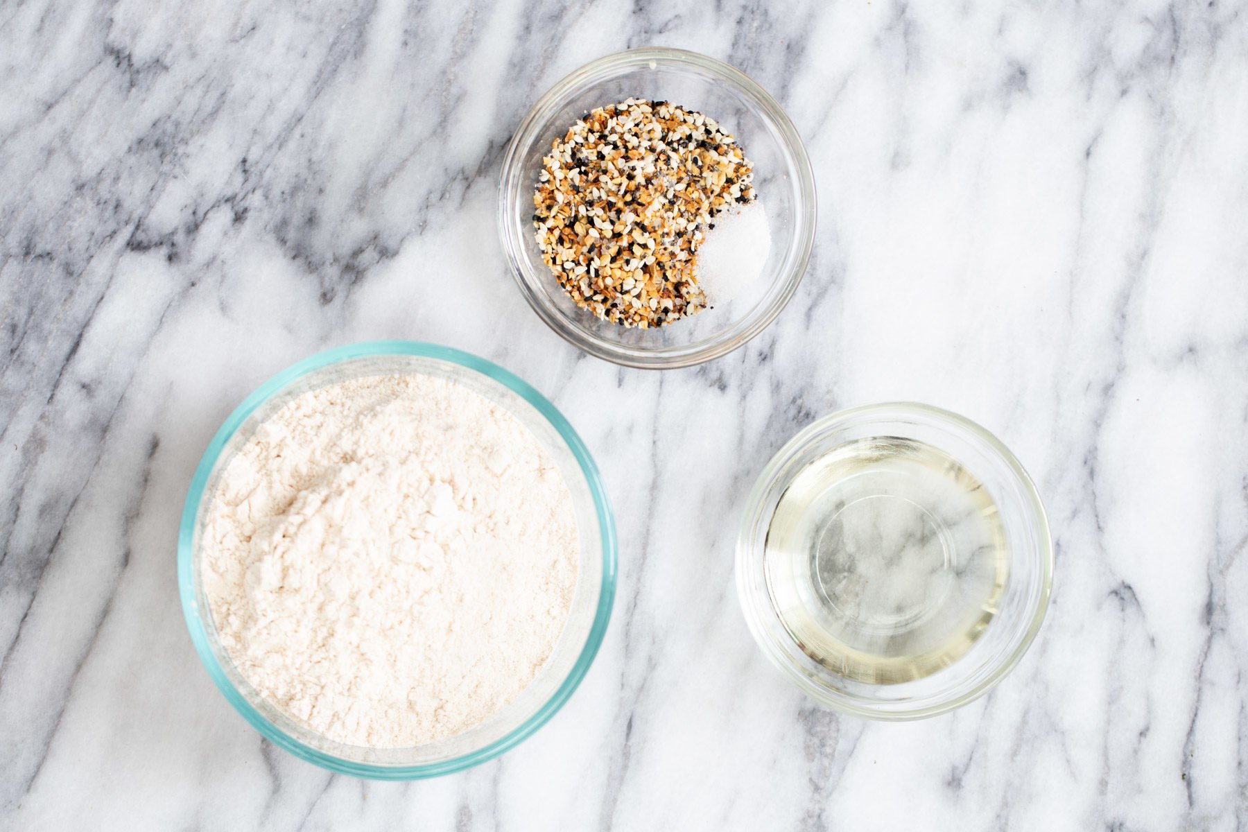 ingredients needed for making everything bagel crackers