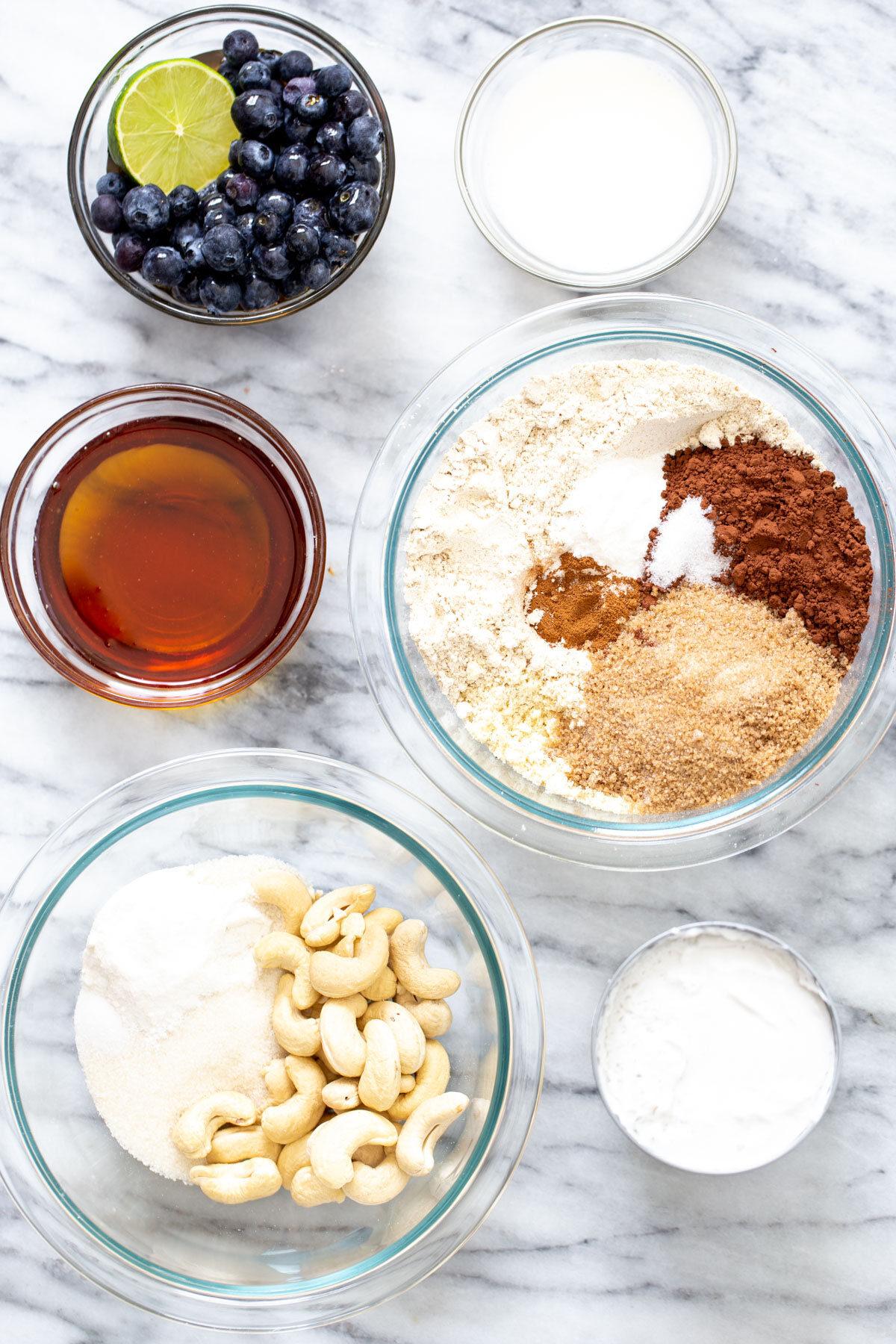 ingredients needed for making vegan vanilla ice cream sandwiches