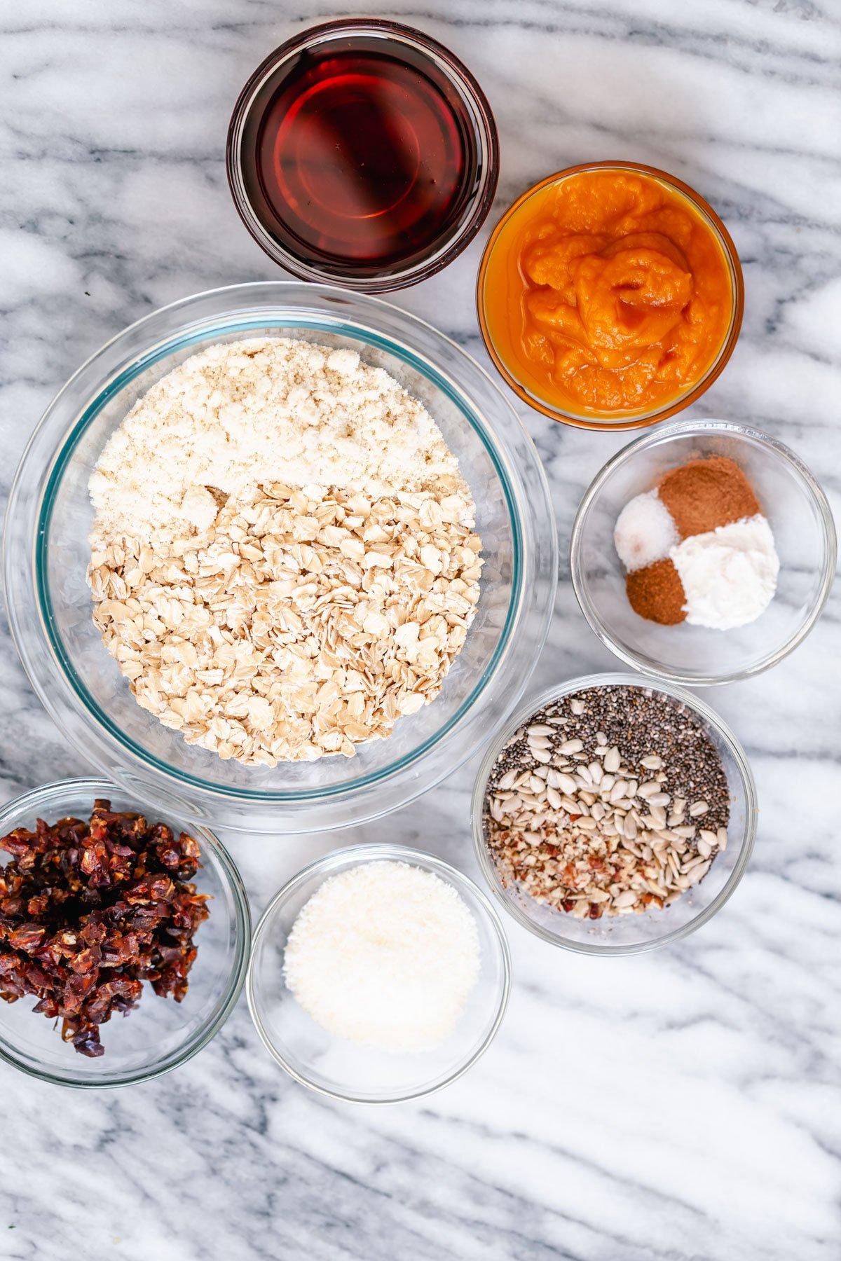 ingredients needed for making pumpkin breakfast cookies
