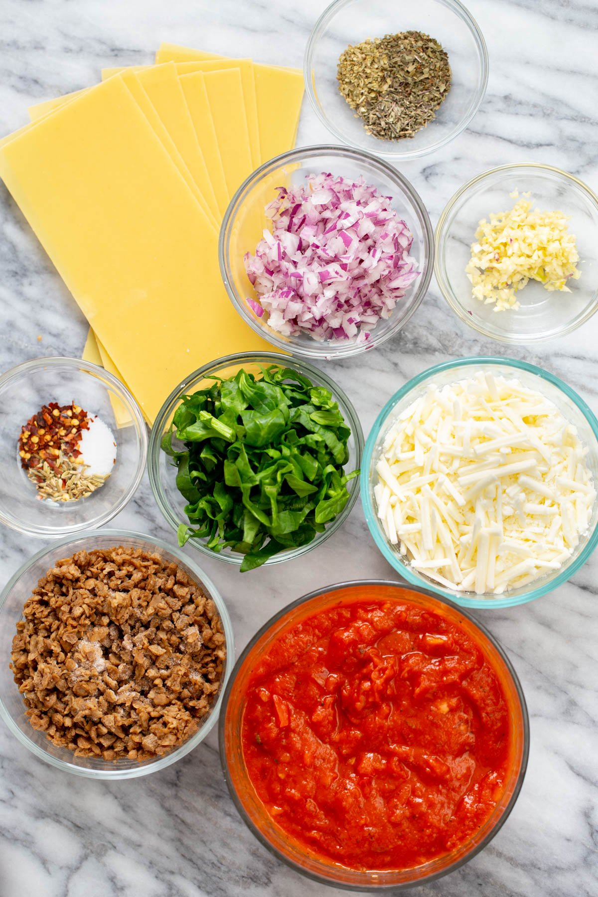 ingredients needed for making skillet lasagna